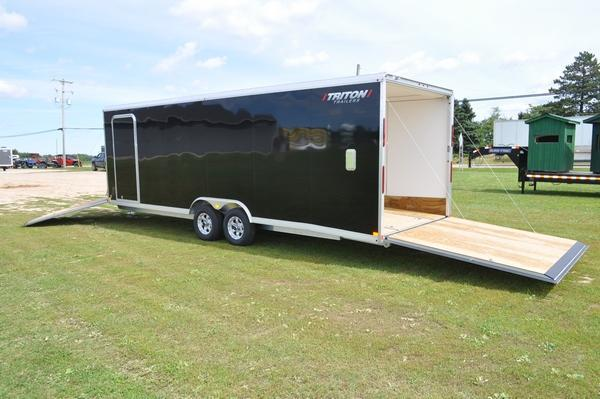 2020 Triton 8.5 x 24 + 5 Snowmobile Trailer