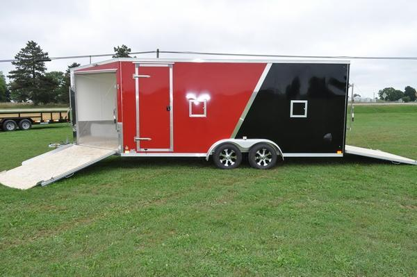 2020 Haul-it 7.5 x 23 Inline All Aluminum Snowmobile Trailer For Sale