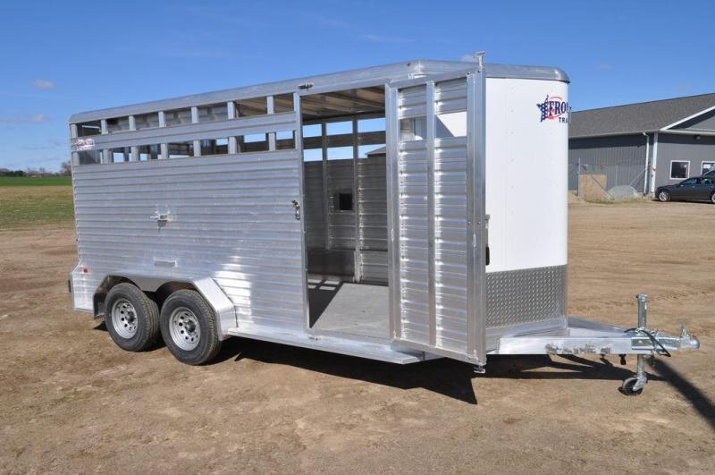 2017 Frontier 7 x 16 Livestock Trailer