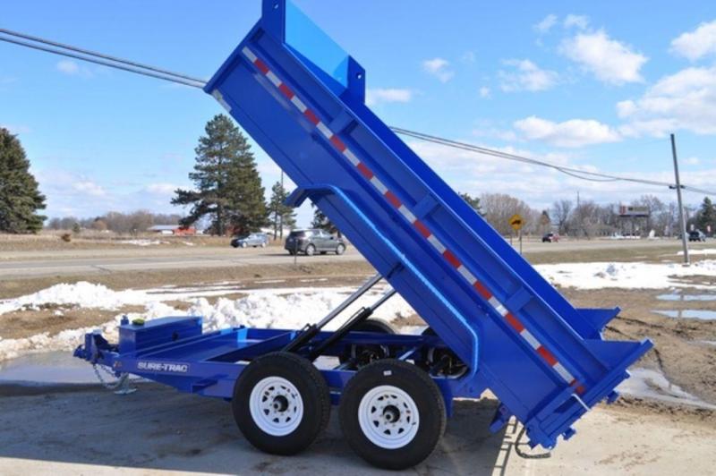 2018 Sure-Trac 82 x 12 Low Profile Blue Powder Dump Trailer in Ashburn, VA