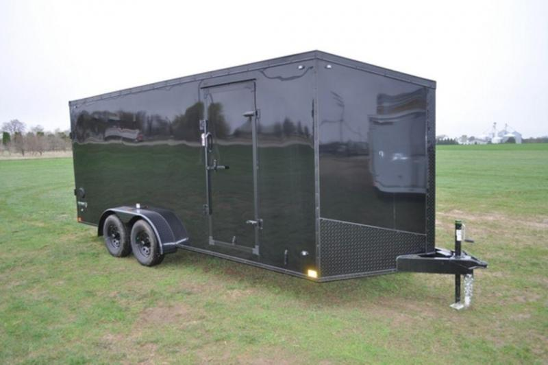 2020 Stealth 7 x 18 Black Out Enclosed Cargo Trailer