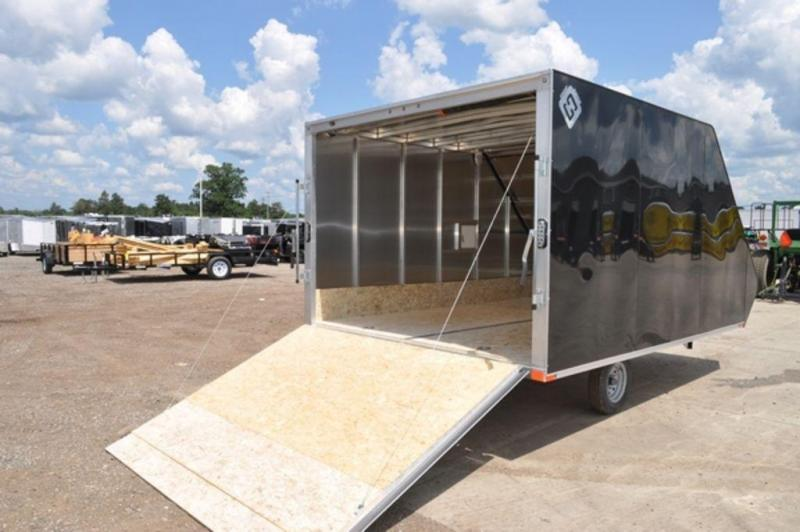 2019 All Aluminum Enclosed 2 Place 13' Standard Hybrid Snowmobile Trailer