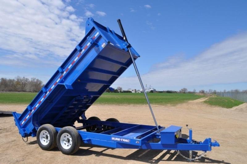 """2019 Sure-Trac 82"""" x 14' Low Profile Blue Telescopic Dump Trailer in Ashburn, VA"""