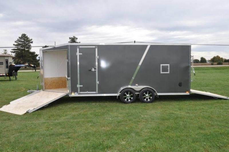 2019 Haul-It 7 x 23 Inline All Aluminum Snowmobile Trailer w/ 7' Interior