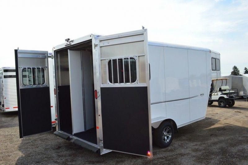2017 Frontier Strider Series 2 Horse All Aluminum Gooseneck Trailer