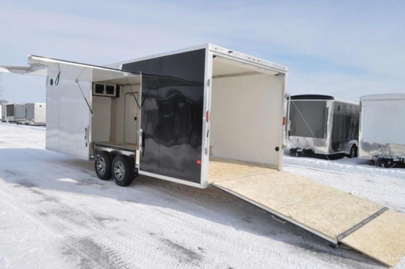 2019 All Aluminum 8.5 x 24 Two Tone Car Trailer w/Full Escape Door in Ashburn, VA