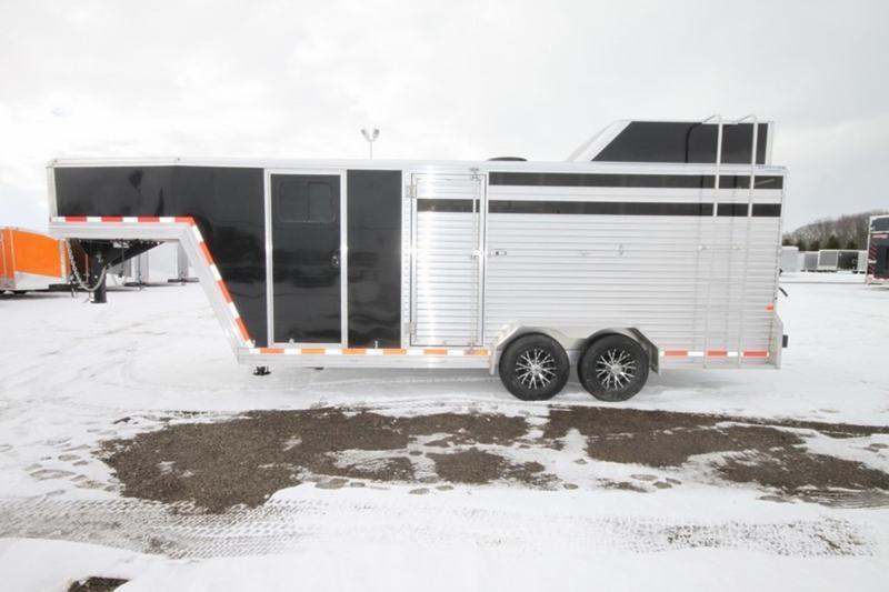 2017 Frontier 7 x 20 Livestock Combo Gooseneck Trailer