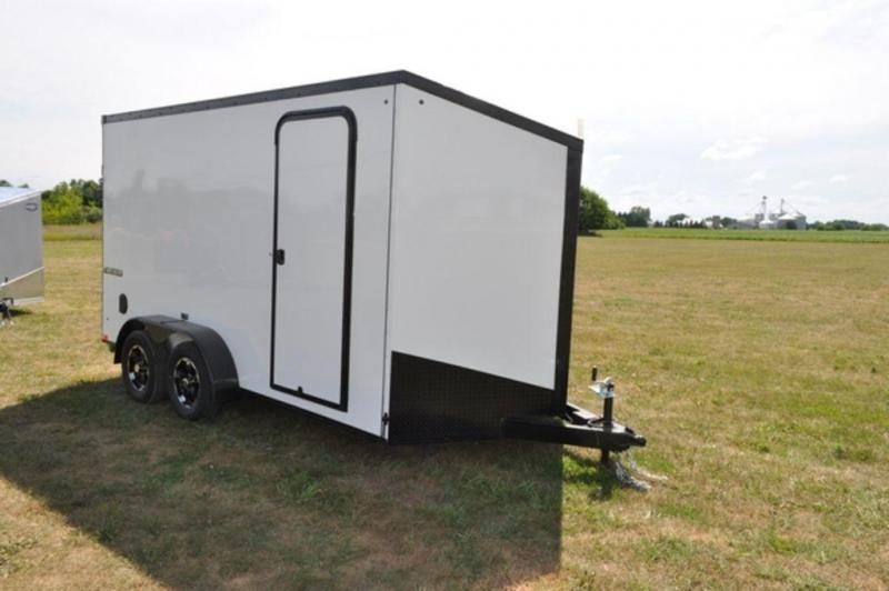 2019 Impact 7 x 14 White Enclosed Cargo Trailer w/ Black Out Trim in Ashburn, VA