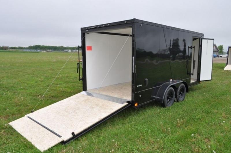 2020 Stealth 7 x 16 Black Out Motorcycle Trailer