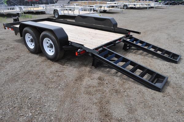 2019 Sure-Trac 7 x 14 H.D. Skid Steer Trailer Equipment Trailer