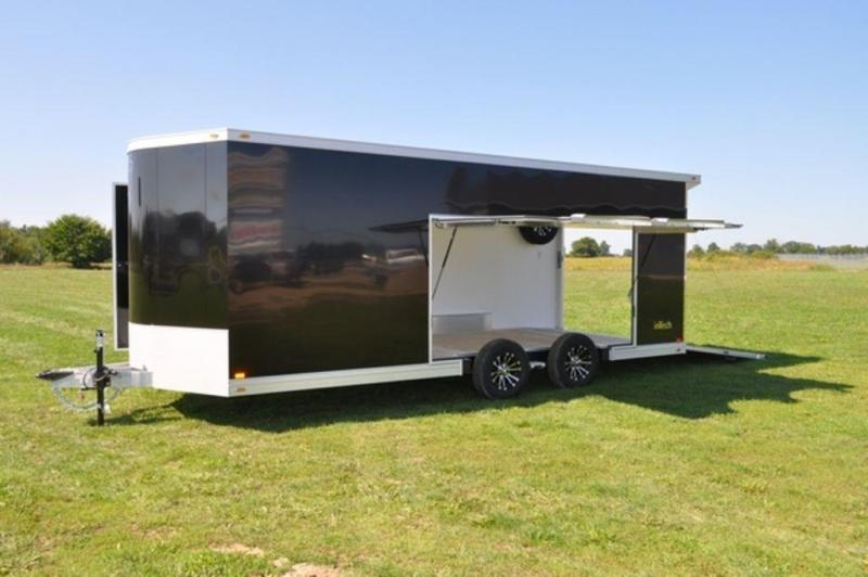 2019 inTech All Aluminum 8.5 x 22 Wedge Nose Car Trailer w/ Full Escape Door in Ashburn, VA