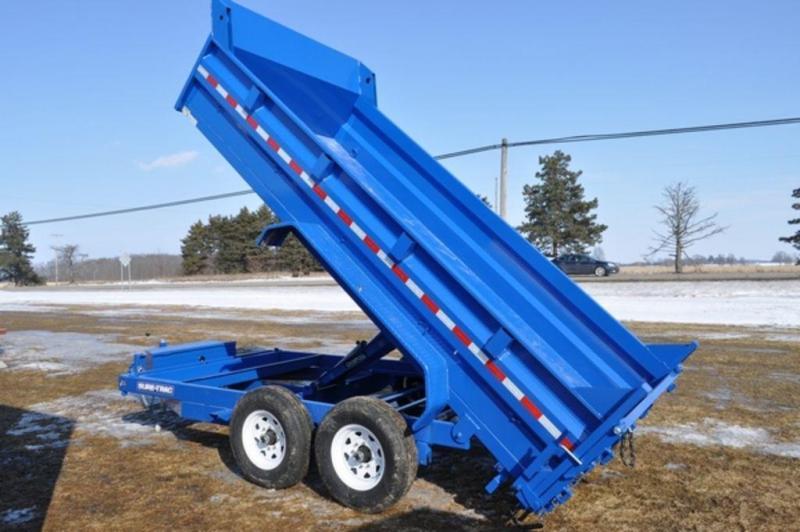 "2019 Sure-Trac Blue 82"" x 14' Dump Trailer in Ashburn, VA"