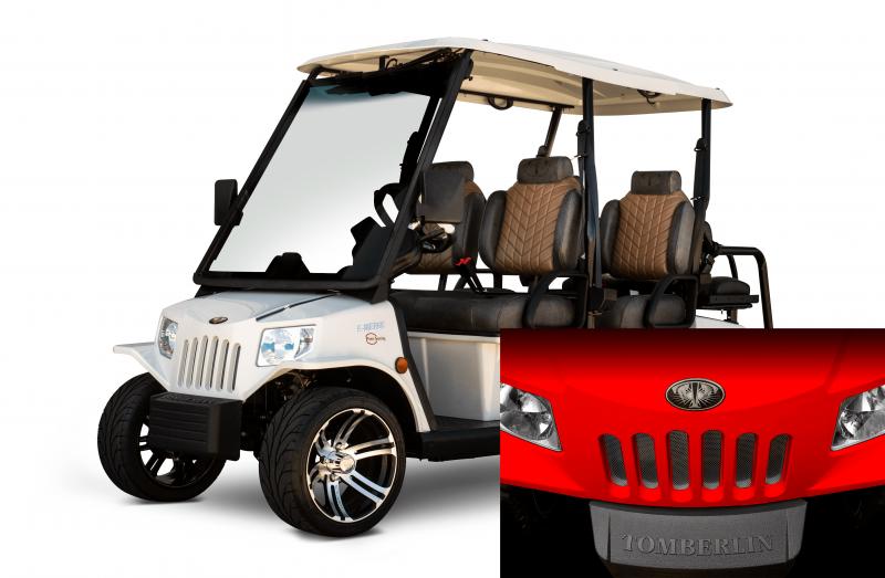 E-Merge E4 SS SALOON | Tomberlin | Lollipop Red Golf Cart | 2019