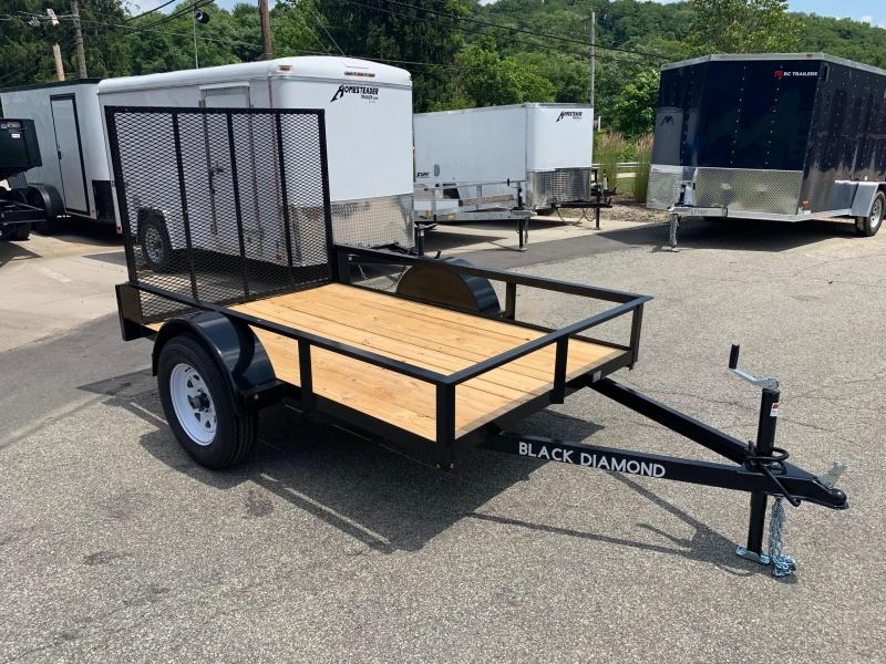 2019 Black DiamondTrailer Steel open Utility Trailer