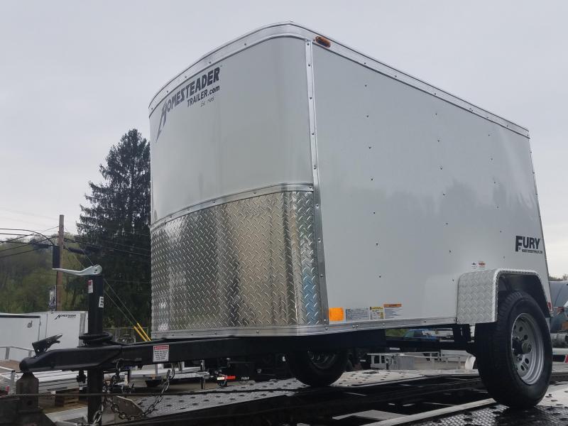 2019 Homesteader Trailer 4X8 Flat Nose Trailer Enclosed Cargo Trailer