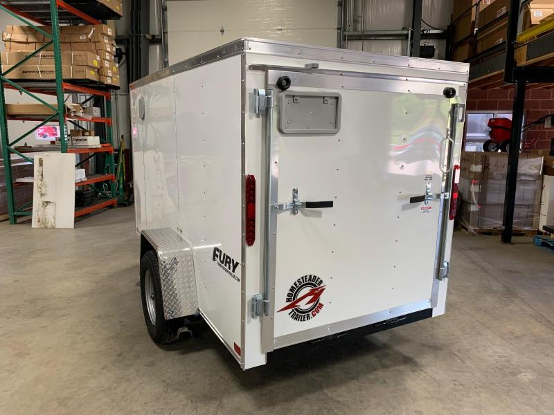2019 Homesteader Trailer 5X10 Flat Nose Trailer Enclosed Cargo Trailer
