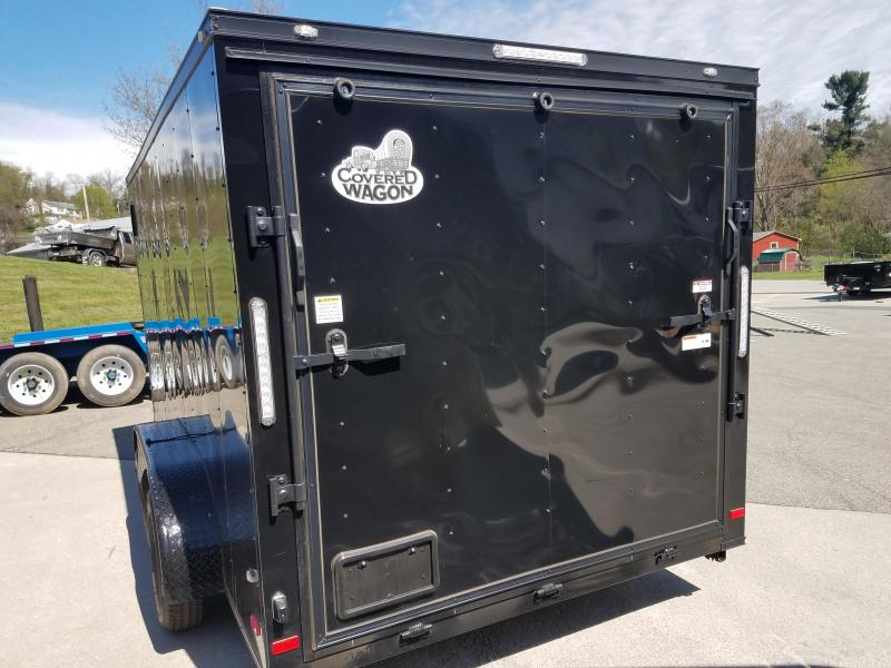 2019 Covered Wagon Trailer 7X14 V Nose Trailer Enclosed Cargo Trailer