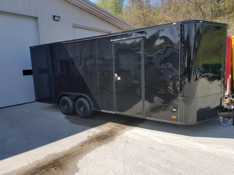 2019 Covered Wagon Trailer 8.5X20 V Nose Trailer Enclosed Cargo Trailer