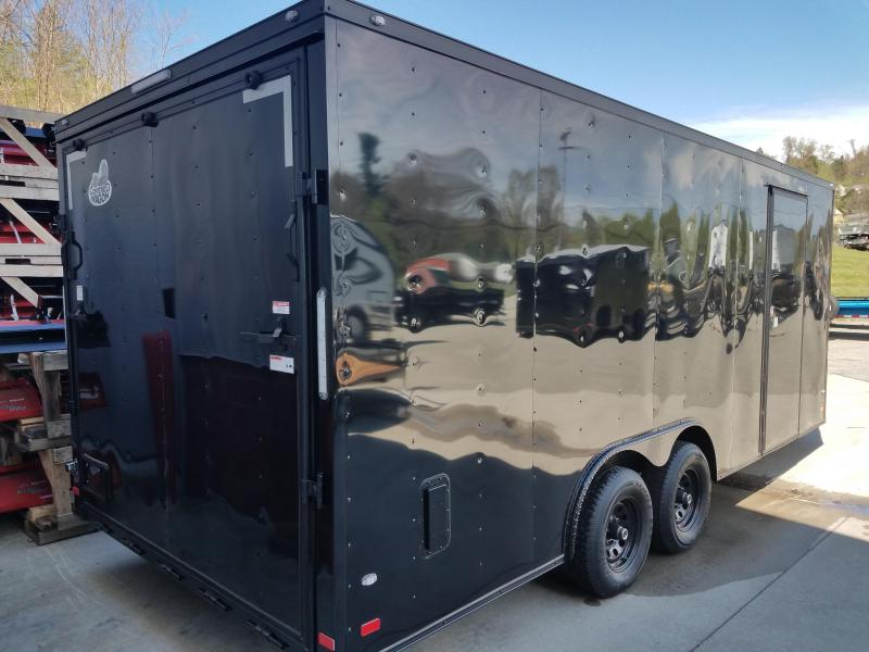 2019 Covered Wagon Trailer 8.5X20 V Nose Trailer Enclosed Cargo Trailer
