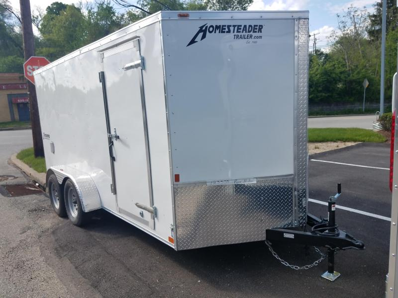 2019 Homesteader Trailer 7X14 V Nose Trailer Enclosed Cargo Trailer