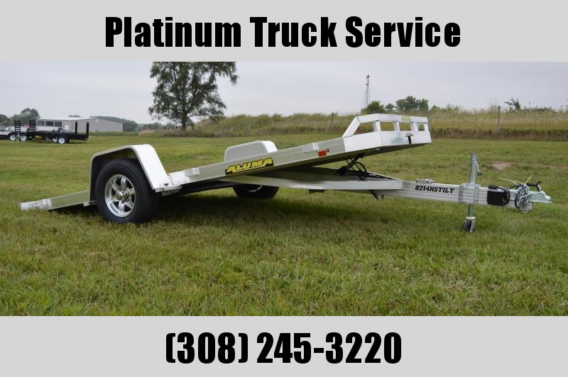 2019 Aluma 8214HSTILT Utility Trailer w/ Lock Out